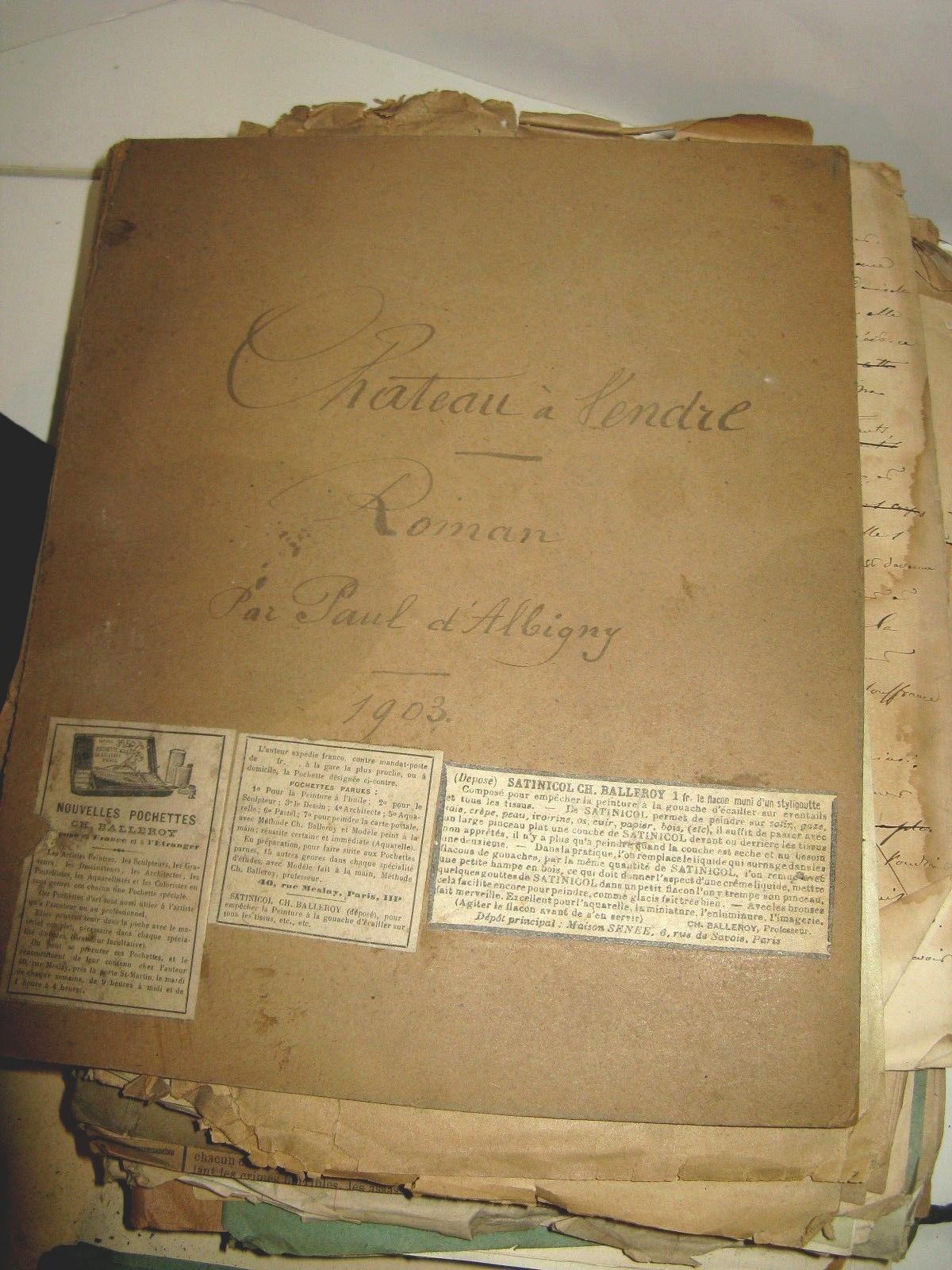 La bouquinerie albigny manuscrit chateau a vendre for Auberge maison rouge annemasse